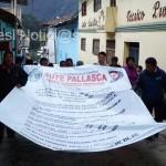 Pese a las amenazas y hostilizaciones SUTEP realizo marcha en Cabana